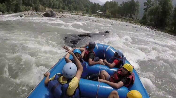 Amount For River Rafting in Manali
