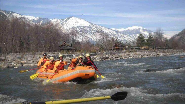 River Rafting in Manali Cost
