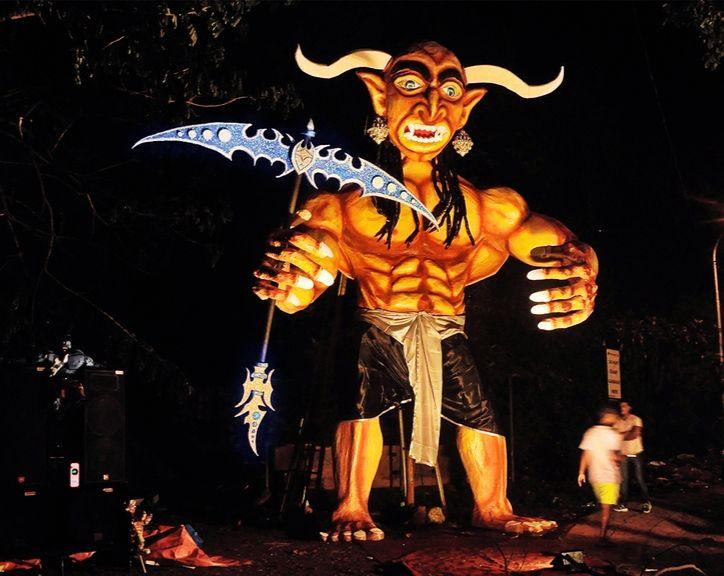 Watch Demon Narakasura Get Burned